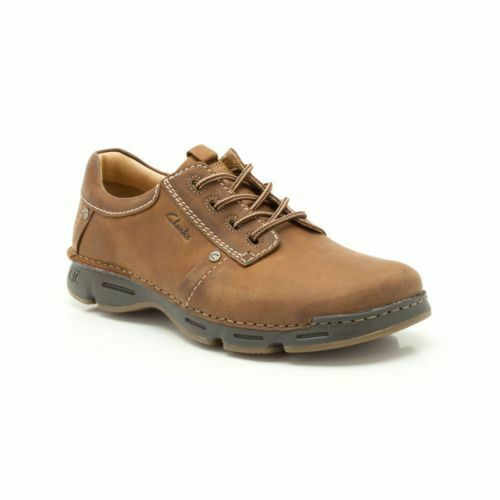 Clarks Homme  Rico Park  acajou Lea  Active Air Flow  Uk 7,8,9,10,11 G