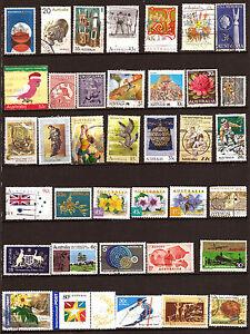 AUSTRALIA-Lote-de-37-sellos-matasellados-temas-diversos-187T5