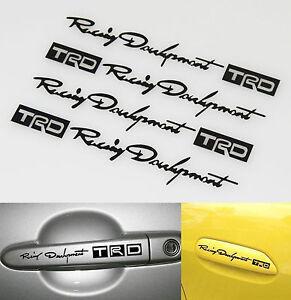 Funny-TRD-Racing-Development-Doorknob-Car-Decal-Vinyl-Sticker-Black