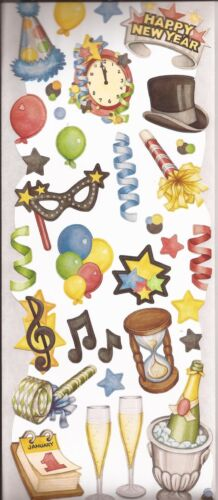 CREATIVE MEMORIES Jumbo Stickers CLASSIC NEW YEAR Celebration Party Balloons NEW