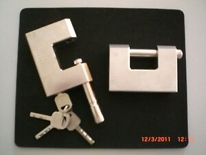 Shipping Container Pad Lock for Lock Boxes, Trucks, Made of Steel/Brass, 4 Keys