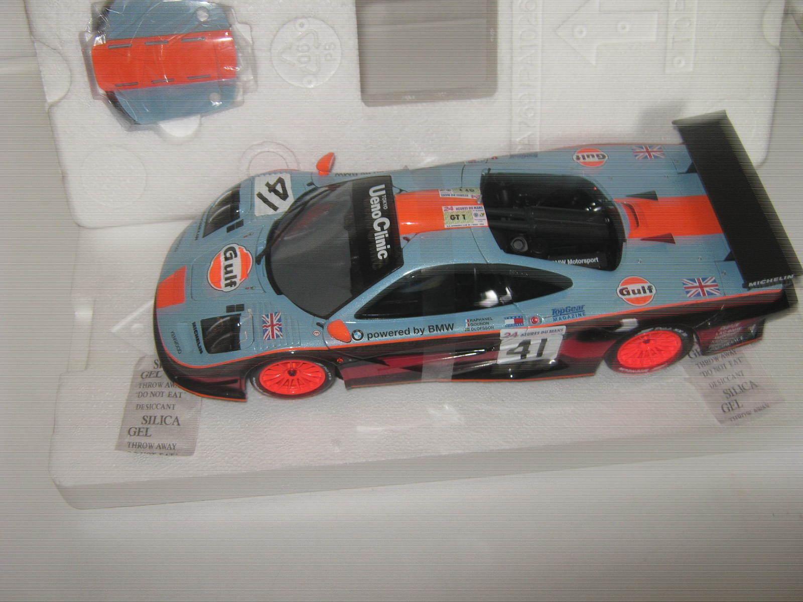 1 18 McLaren f1 GTR Olofsson LEMANS WIN 1997 Minichamps 530133471 OVP NEW