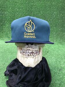 Vintage NWOT Golden harvest farm K products snapback hat cap blue green AG seed