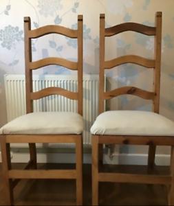 Chaises de salle à manger en chêne