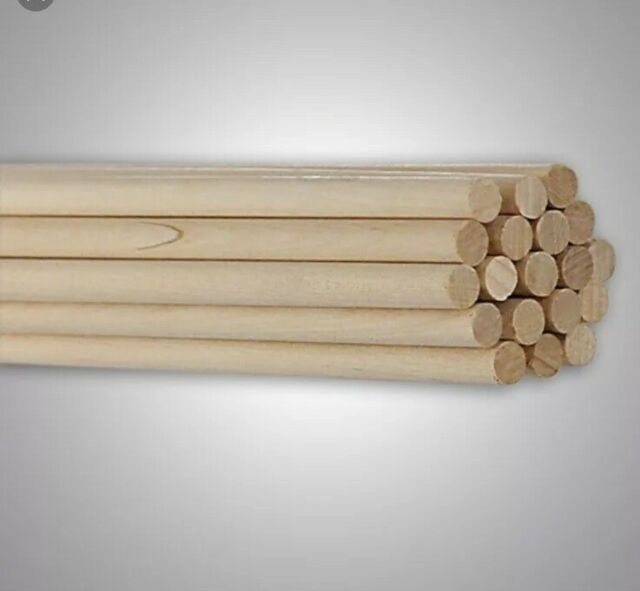 "Brand New Lot of 10 Birch Wooden Dowel Rods 1//2/"" x 36/"" Unfinished For Crafts"