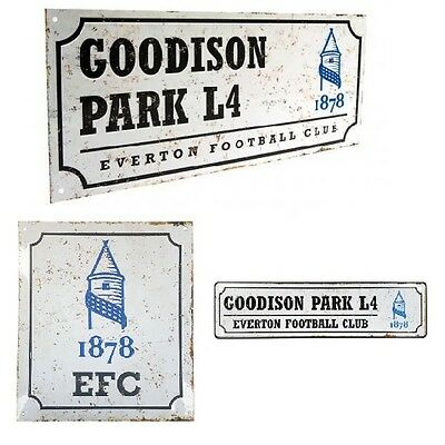 Multi-Colour Everton Official Street Sign