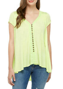 Free-People-Damen-OB958679-Top-Entspannt-Lemon-Light-Grun-Groesse-XS