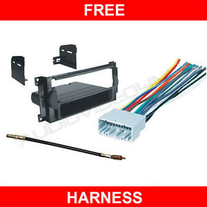 Details about JEEP COMP CAR RADIO MOUNTING DASH KIT+WIRE HARNESS on