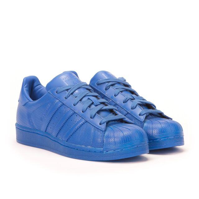 0dfb9559ebed2 adidas Originals Men s   Women s adicolor Superstar Trainers Sneakers Blue
