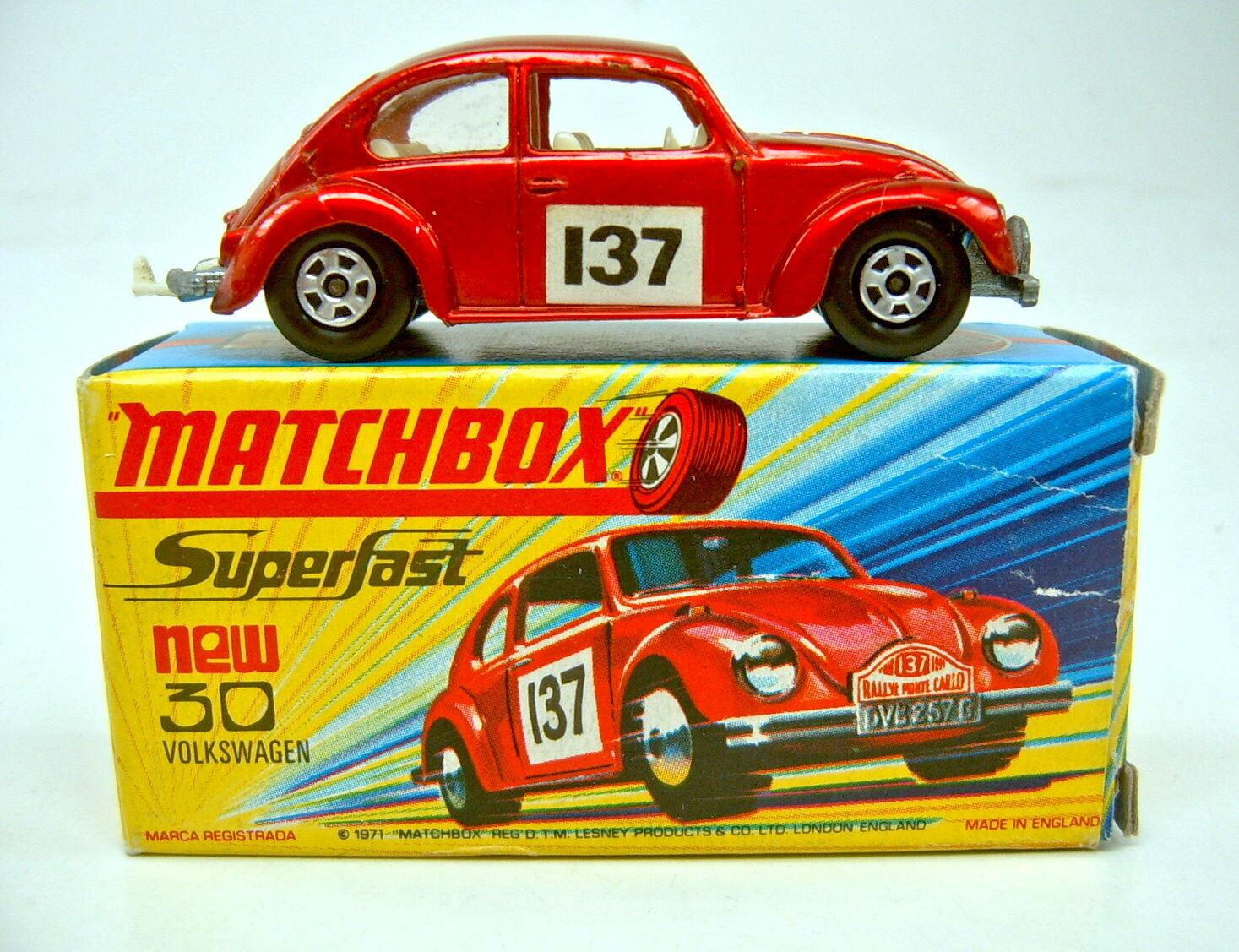 MATCHBOX SF Nº 15 A VW 1500 rougemet. Extrêmement rare  no. 30  Japon-Box