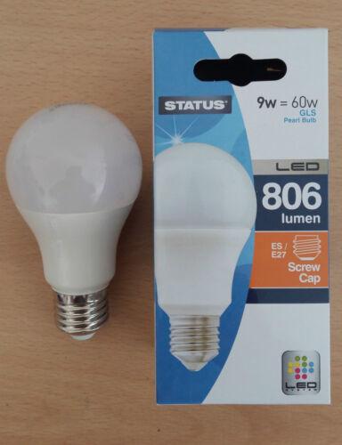 9w LED GLS BC B22 ES E27 Pearl Light Bulbs Warm//Cool White 1 2 4 10 60w Cheap!