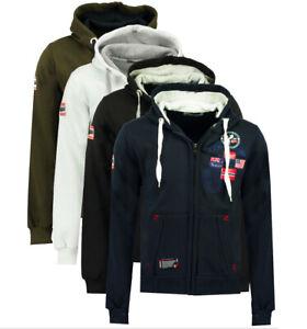 Felpa-GEOGRAPHICAL-NORWAY-Gundreal-maglia-maniche-lunghe-Uomo-Zip-Cappuccio-WR64
