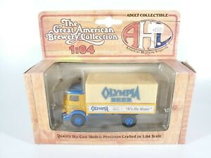 AHL-American-Highway-Legends-NIB-1-64-Olympia-Beer-1930-Delivery-Truck-GMC-T-70