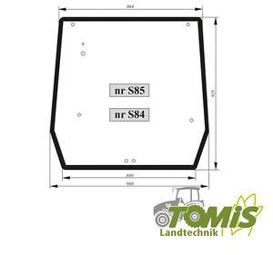 glas scheibe heckscheibe case new holland jx55 60 65 70 75. Black Bedroom Furniture Sets. Home Design Ideas
