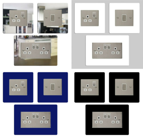 simple interrupteur de lumière double prise de courant surround de doigt libre p/&p 3 pour 2