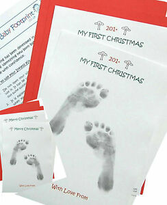 Baby-My-1st-Christmas-A5-Baby-Inkless-Hand-Print-amp-Footprint-Kit