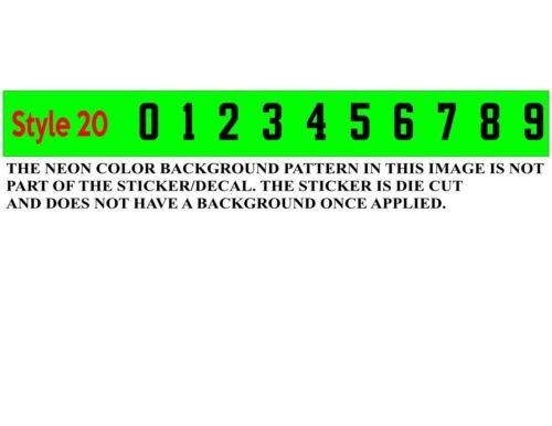 "Baseball//Softbal Helmet Number Decals 1/"" tall  Set of 10 numerical numbers 11-19"
