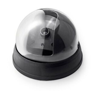 Dummy Fake Security CCTV Secuaity Dome Camera with Flashing Red LED Light Record