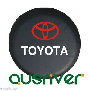 For-Toyota-Black-Soft-Waterproof-Synthetic-Leather-Spare-Wheel-Cover-Brand-New