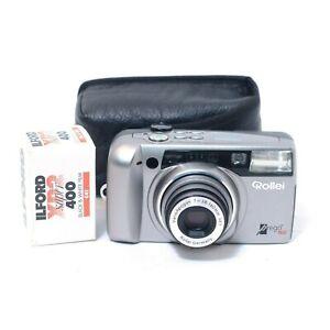 Rollei-Prego-160-Compact-Film-Camera-w-Flash-Zoom-Lens-CASE-Ilford-FILM