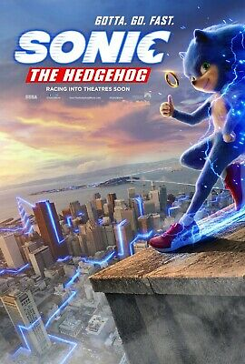 Sonic The Hedgehog Movie Poster B 11 X 17 Inches 2019 Ebay