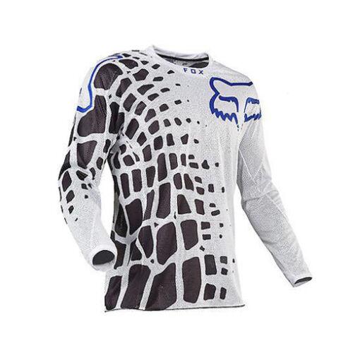 UK FOX Long Sleeve Downhill Shirt Racing Jersey Off-Road Mountain Bike Clothing