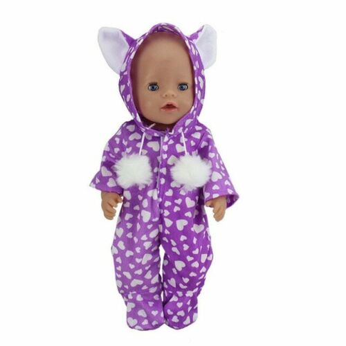 Baby Doll Clothes 18 inch Coverall Reborn Doll Rompers Accessories Toys