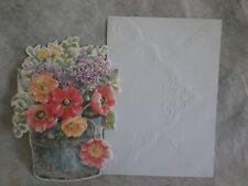 Happy Birthday Blue Pail of Dahlias on the cover Carol/'s Rose Garden