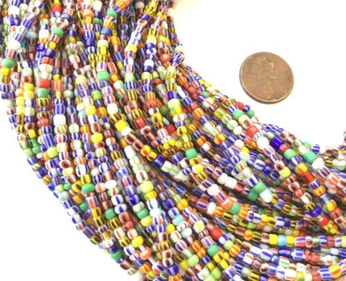 Vintage Strand Ghana Beads African Assortment Glass African Trade Beads-Ghana