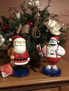 image is loading bumble the abominable snowman amp santa nutcracker from - Abominable Snowman Rudolph Christmas Decoration