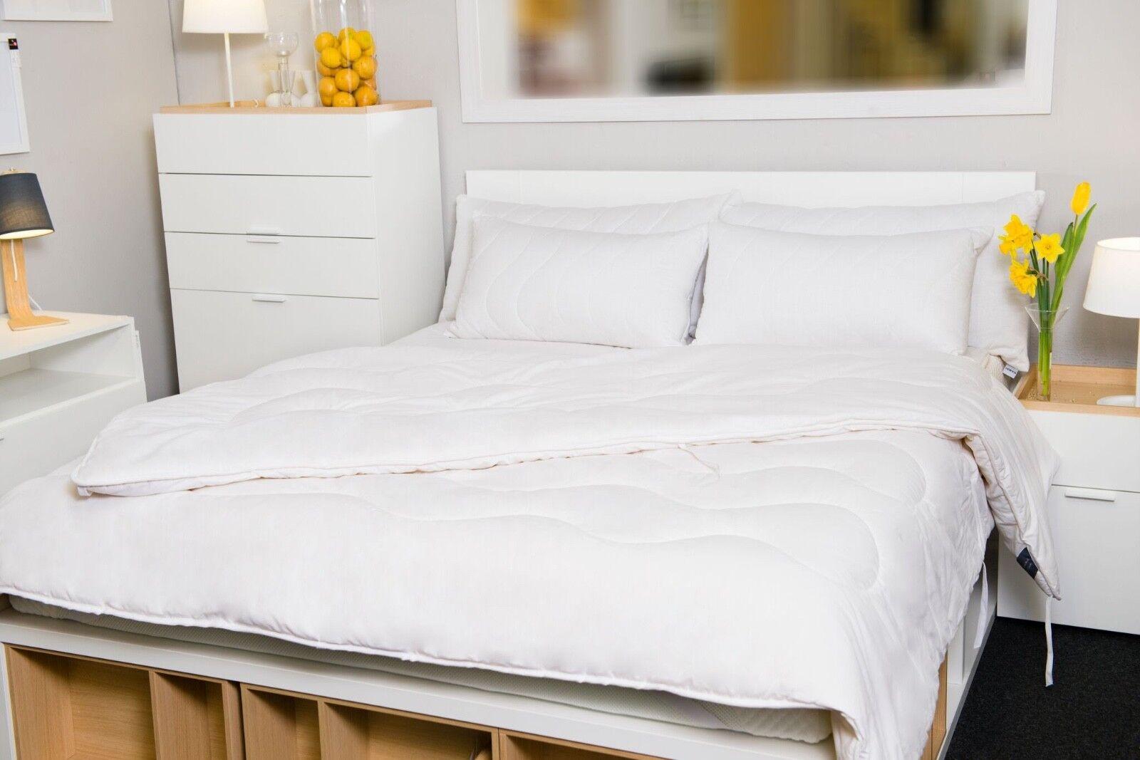 Merino Wool Cotton Duvet Quilt Single Double King Größe 100% NATURAL 10.5 tog