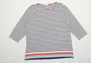 Tulchan-Womens-Size-20-Striped-Modal-Blend-Multi-Coloured-T-Shirt-Regular