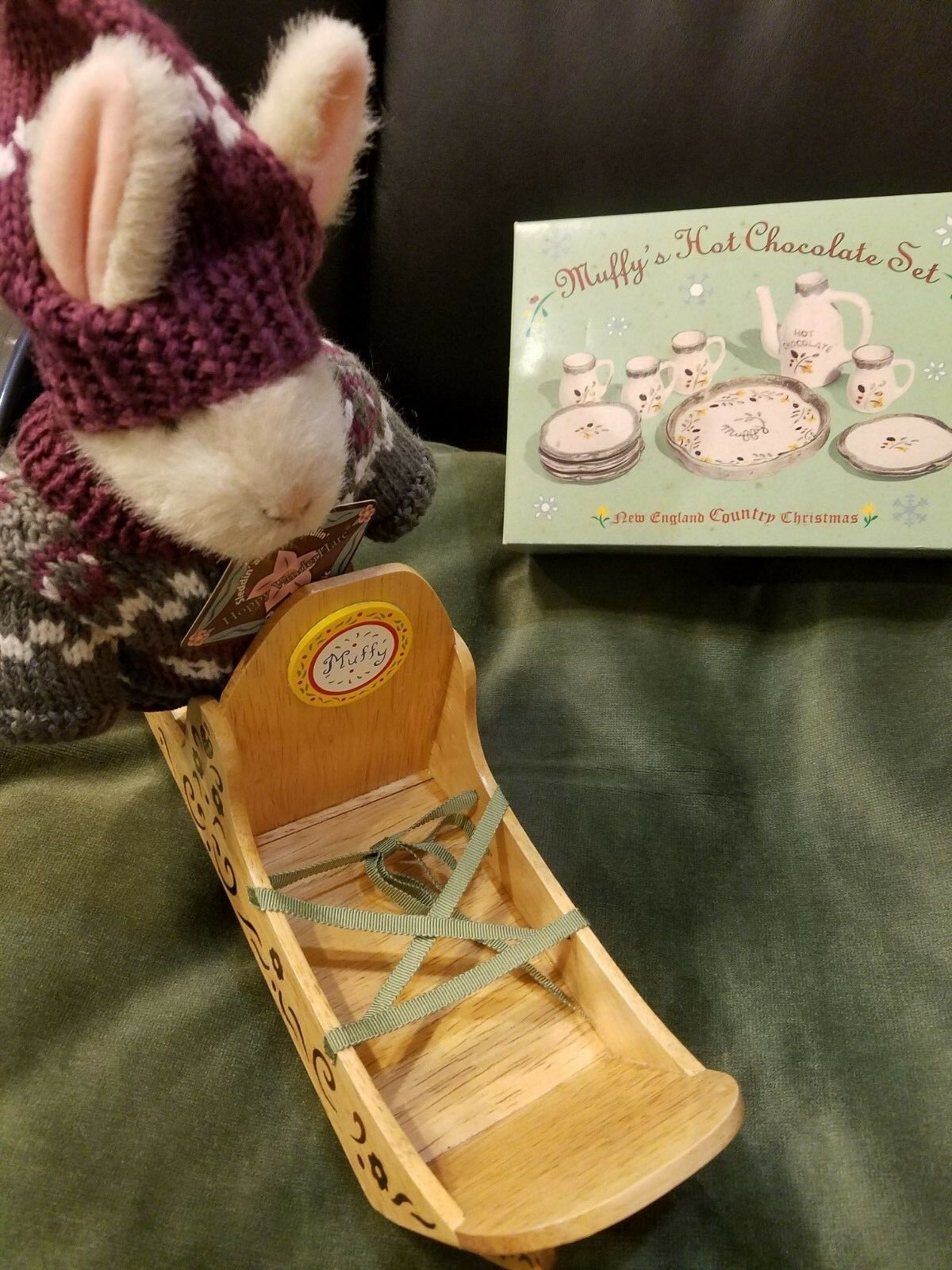 Muffy's Hot Chocolate Set , Muffy Dog Sled,  Hoppy - Sleddin and Skidaddlin