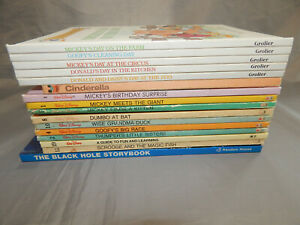 16-disney-kids-picture-books-VINTAGE-1980s-lot-rhyming-readers-donald-duck-dumbo
