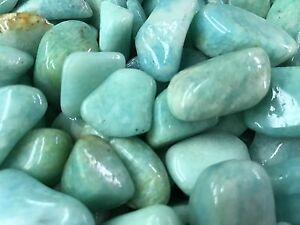 1000 Carat Lots of Polished Tumbled Amazonite + FREE Faceted Gemstone