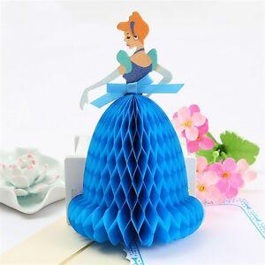 Image Is Loading CINDERELLA DISNEY PRINCESS 3D POP UP GREETING BIRTHDAY