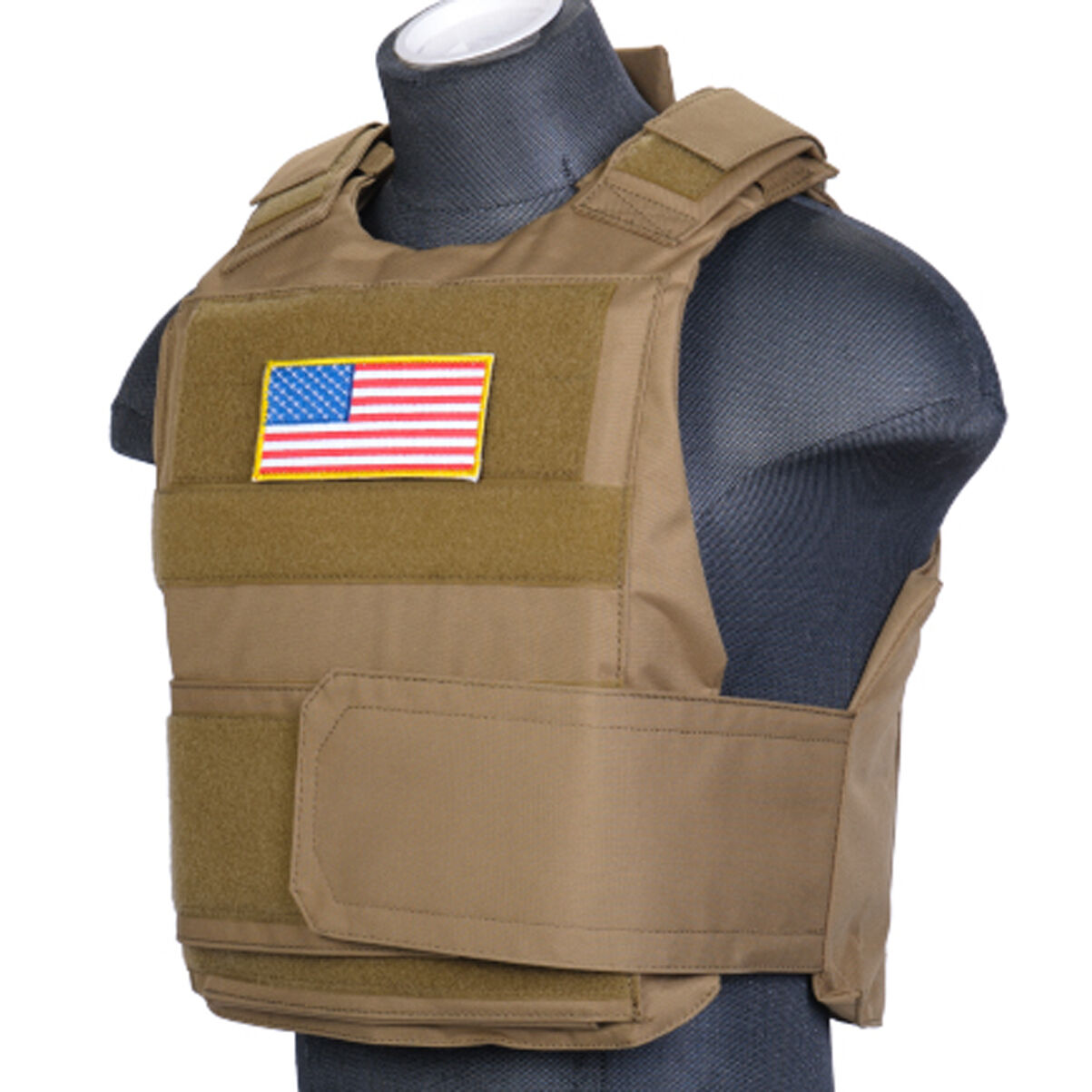 Body Armor Vest Lancer Tactical Strike Plate Carrier Airsoft SWAT team CA-302T