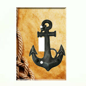 Anchor Nautical Rope Light Switch Plate Wall Cover