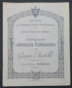 Catalogue-1908-GEORGES-MABILLE-ARTICLES-FUNERAIRES-Amboise-Tombe-cimetiere
