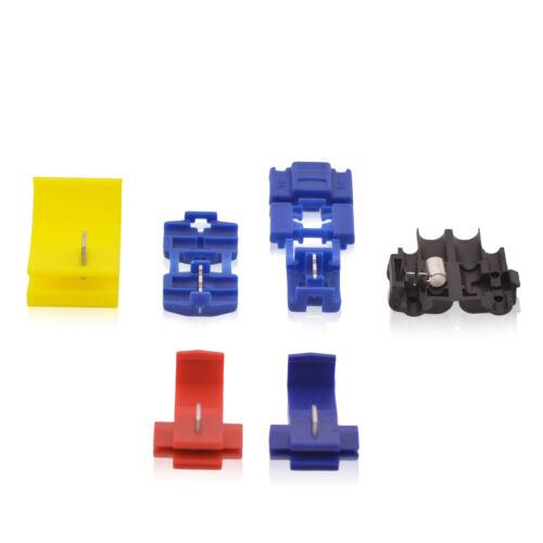 50 Stück L Kabelabzweigklemmen Blau W 17,5mm 31mm
