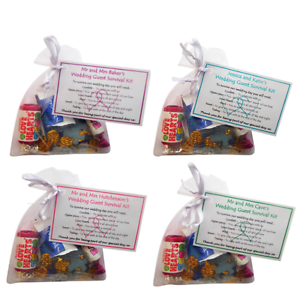 Image Is Loading 1 100 Personalised Wedding Favours Guest Survival