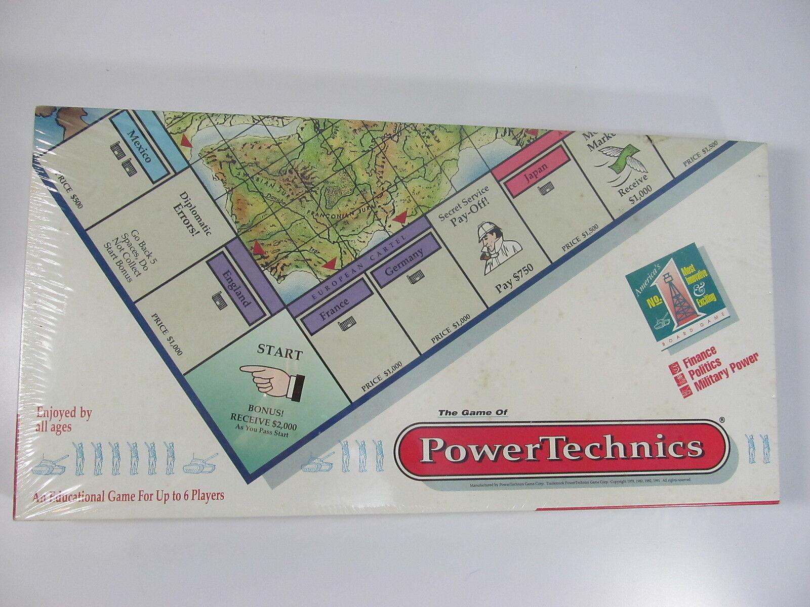 RARE  Power Technics Board Game Finance, Politics, Military Power NEW SEALED