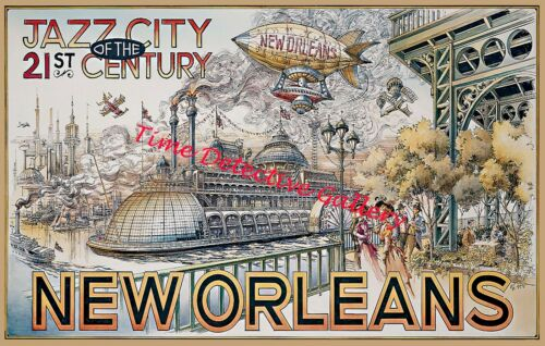 Poster in 3 Sizes Cities of the Future New Orleans Disneyland Paris