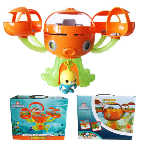 Octonauts Octopod Tunip Playset Action Figures Kid Exercise Education Toy Set