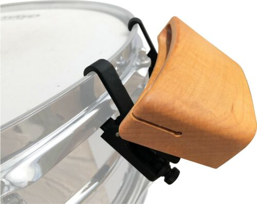 A percussion woodblock that attaches to the rim of a drum. Maple RhymBlock