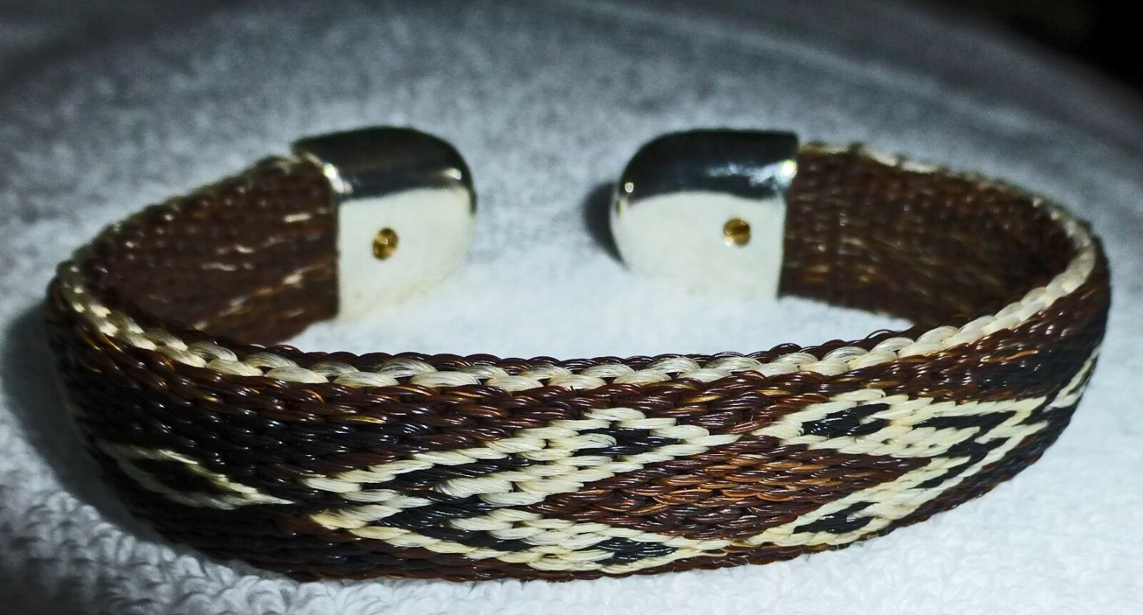 Hitched horse hair bracelet  Brown Southwest design  store sale outlet