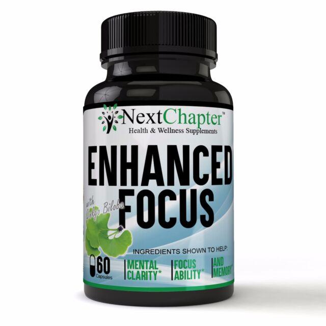 Enhanced Focus Brain Boost w/ Ginkgo Biloba complex - ADVANCED Brain Booster