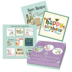 Tallon 4491 8 Adult Birthday Cards in Keepsake Box