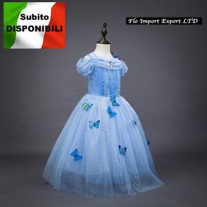 Caricamento dell immagine in corso Cenerentola-Vestito-Carnevale-Dress-up- Princess-Cinderella-Costumes- 8cf68f1486a3