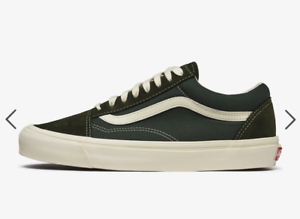 Details about VANS Og Old Skool Lx (Suede Canvas) Forest Green Night